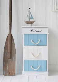 Monterey Coastal Bathroom Cabinet With 3 Drawers For Storage A Nautical  Pinterest