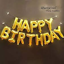 Happy Birthday Balloons Banner Amazon Com Happy Birthday Balloons Aluminum Foil Banner Balloons