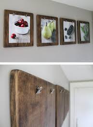 wood and binder clip art boards on wall art ideas for kitchen with 36 best kitchen wall decor ideas and designs for 2018
