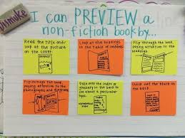 Previewing A Nonfiction Book Chart Google Search Writing