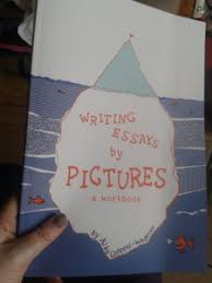 writing by pictures tactile academia proof copy in my hands
