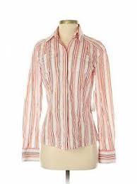 Details About Gianni Bini Women Red Long Sleeve Button Down Shirt Sm Petite