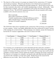 How To Prepare An Estimate Solved The Objective Of This Exercise Is To Prepare An Es