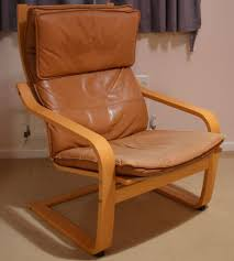 bedroom ikea poang chair tan leather cushion and footstool in cover pattern rpoang chair