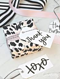 free printable hand lettered gift s and leopard print gift wrap