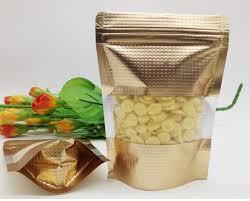 Tea Bag Display Stand 100100100100100cm Stand Up Translucent Gold Foil Packaging Bag Food 49