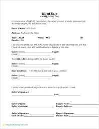 Standard Bill Of Sale For Boat Vehicle Bill Of Sale Template