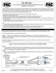 pac wiring diagram wiring diagram list bose pac os 2bose gm onstar interface manualzz com pac wiring diagram