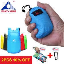 PLAYKING Lightweight <b>Nylon Foldable Backpack Waterproof</b>