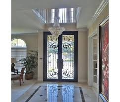 wrought iron exterior doors frosted glass