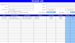 Free Excel Mileage Log Now Download Free Mileage Log Template In Excel Format And