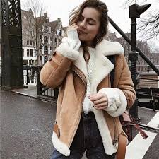 2018 women s fashion leather jackets faux suede winter coats thick solid color sashes street outerwear fur collar basic jackets motorcycle leather jackets