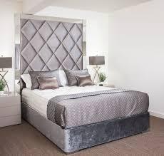 Bedrooms : Mirror Headboard Bedroom Set Glass Headboard Mirrored ...
