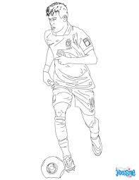 Coloriage Du Joueur De Foot Neymar Imprimer Gratuitement Ou