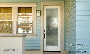 glass front doors custom swirls decorative door privacy blinds 3