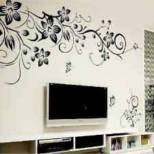 hot diy wall art decal decoration fashion romantic flower wall sticker wall stickers home decor d x