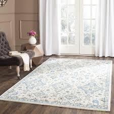 improved 4x6 blue rug com safavieh evoke collection evk224c contemporary ivory and