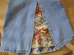 homemade bell bottom jeans