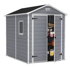 Amazon.com : Keter Manor Large 6 x 8 ft. Resin Outdoor Backyard Garden  Storage Shed : Garden & Outdoor