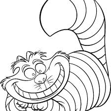 Small Picture Cheshire cat coloring page alice in wonderland character cheshire