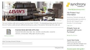 levin furniture credit card payment options synchrony banking