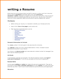 Preparing A Resume For A Job