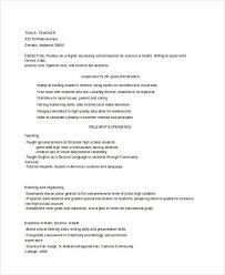 Example Of Teacher Resume Adorable 48 Teacher Resume Templates Download Free Premium Templates