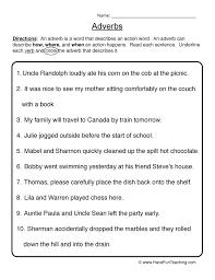 Adverb Worksheets   Have Fun Teaching