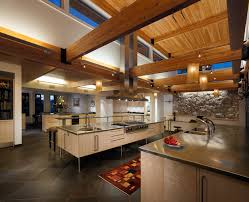 open beam ceiling lighting. Open Beam Ceiling Kitchen Contemporary With High Ceilings Stainless Steel Countertops Lighting