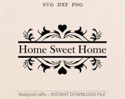 Small Picture Home sweet home svg Etsy