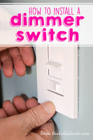 installing a dimmer switch is really pretty easy see how we did it in this