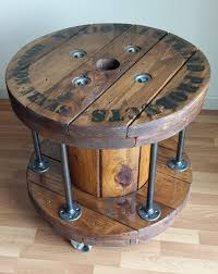 reel table ideas wooden spool tables diy cable