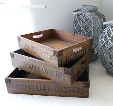 vintage wooden trays