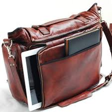 handmade leather messenger bag handmade 22 inch leather cross leather laptop bag or mac