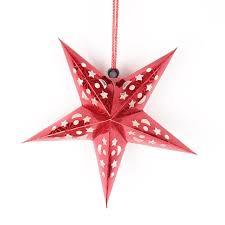 Christmas Hanging 3d Rope Light Lantern 3d Hollow Star Pentagram Paper Lantern Lampshade Ceiling
