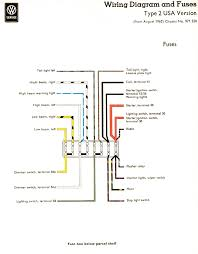 vw wiring diagrams 1962 1965 usa