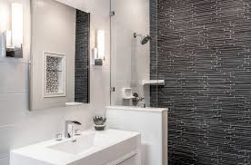 White bathroom tiles Metro These Largeformat Bathroom Tiles Turn Simple Design Into Modern Wallpaper Look The Tile Shop Bathroom Tile Designs Trends Ideas The Tile Shop