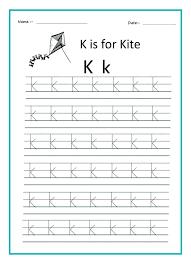 Kindergarten worksheet tracing
