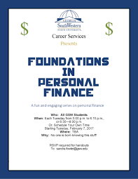 calendar of events foundations in finance flyer fall spring 2017