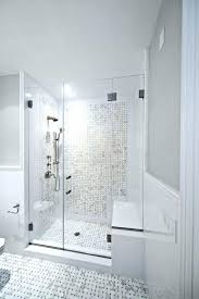 showers built in shower seat bench teak bathroom traditional with pertaining to decor