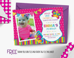 invitation first erfly garden first birthday party decorating of party