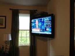 corner wall mount tv style