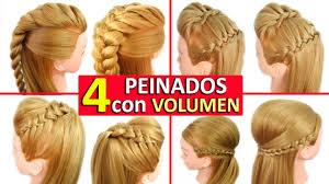 4 Peinados Faciles Y Rapidos Con Trenzas Con Volumen Tupe Para