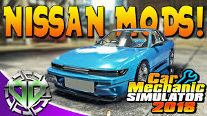2018 nissan 240sx.  nissan car mechanic simulator 2018  nissan mods salon u0026 race track update  pc modded inside nissan 240sx