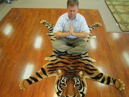 to this blog and the eternal search for truth here is a picture of yours truly yogi in the making engaged in tantric meditation on a tiger rug