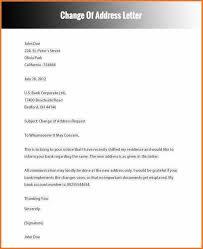 Free Change Of Address Change Of Address Letter Artresume Sample 2