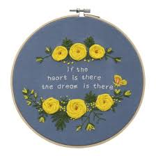 Shop Europe <b>DIY Ribbon</b> Flowers <b>Embroidery</b> Set with Frame for ...