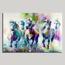 colorful wall decorations the running horses canvas material oil painting canvas prints wall art pictures for on colorful wall art canvas with colorful wall decorations the running horses canvas material oil