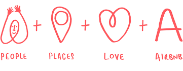 PEOPLE + PLACES + LOVE + AIRBNB | Banner/Ads | Airbnb logo, Logo ...