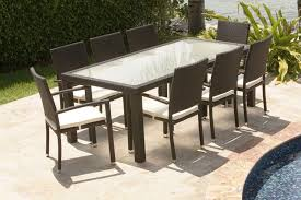 dining roomfascinating outdoor dining table using brown wicker dining sets also white pad plus brown set patio source outdoor